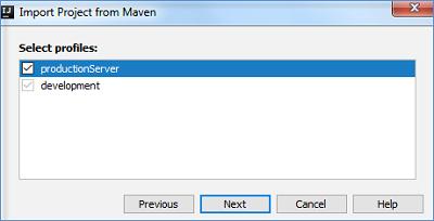 激活Maven配置文件