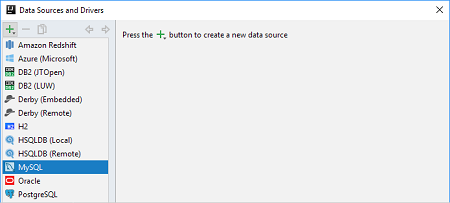 IntelliJ IDEA连接到MySQL