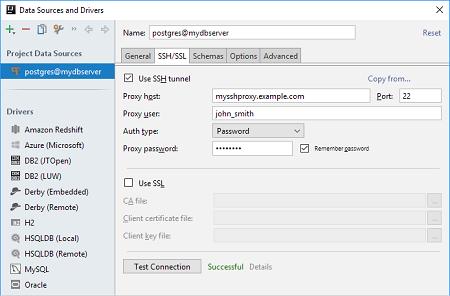 通过SSH访问数据库