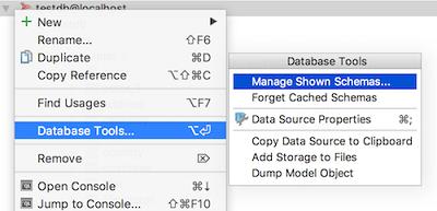IntelliJ IDEA数据库工具窗口显示模式
