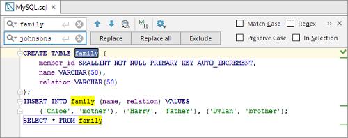 IntelliJ IDEA:编写SQL语句