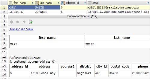 IntelliJ IDEA数据编辑器:使用快速文档视图