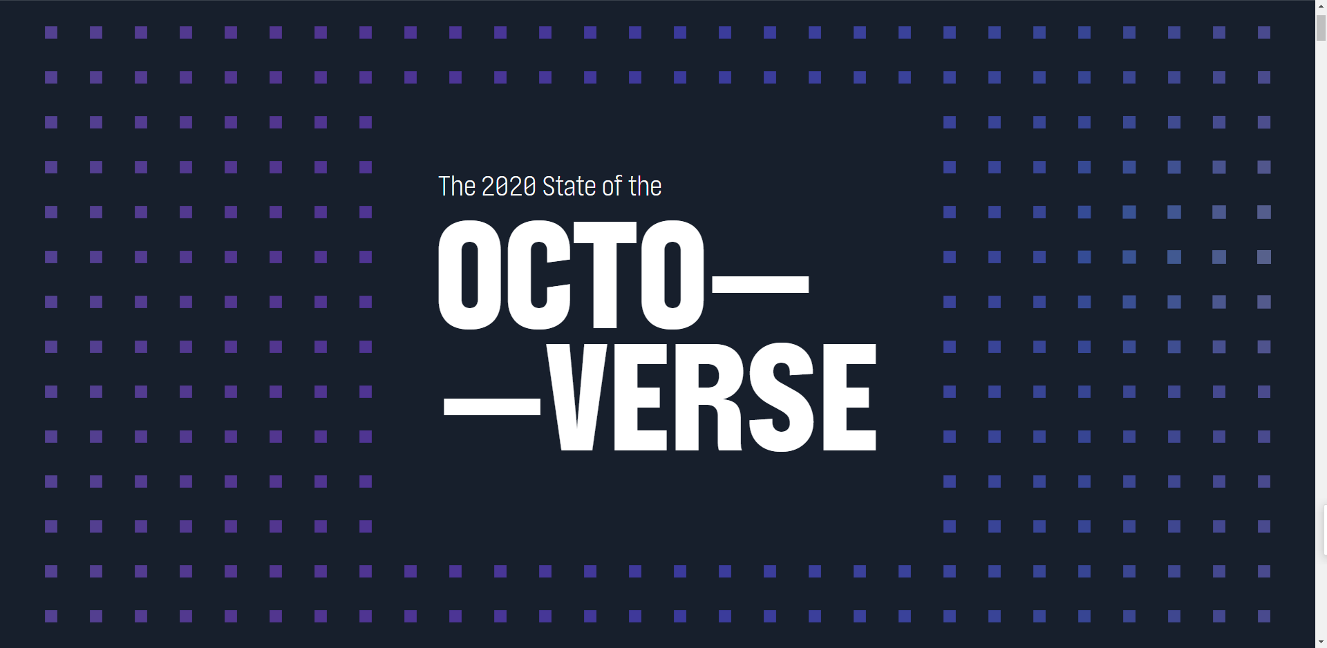 The 2020 State of the OCTO— —VERSE