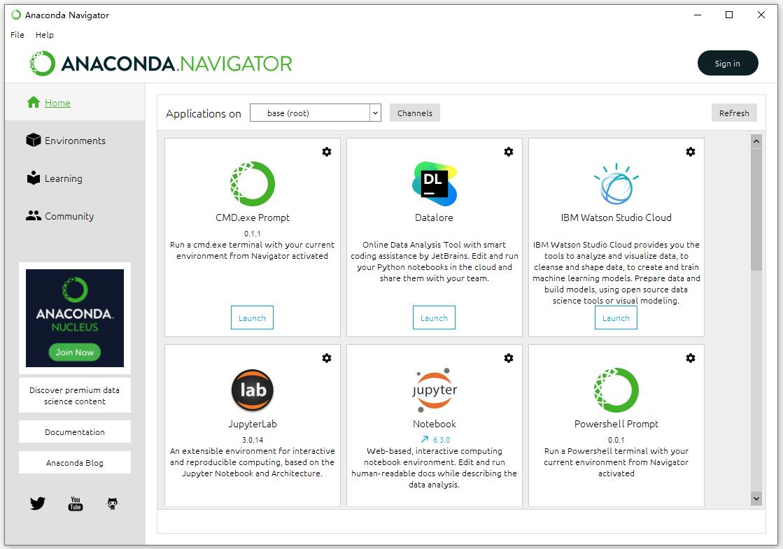 anaconda图形页面