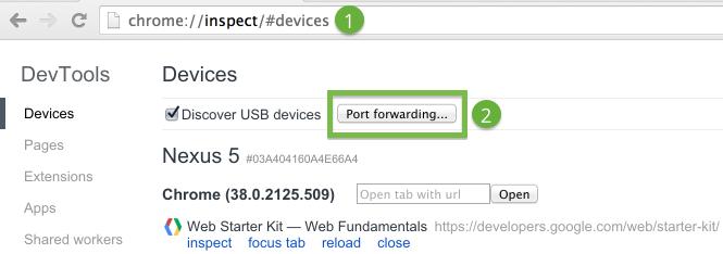 chrome-port-forwarding