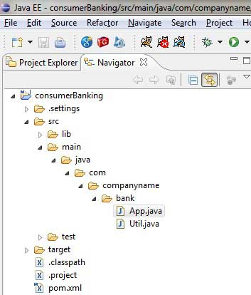 maven project in Eclipse.