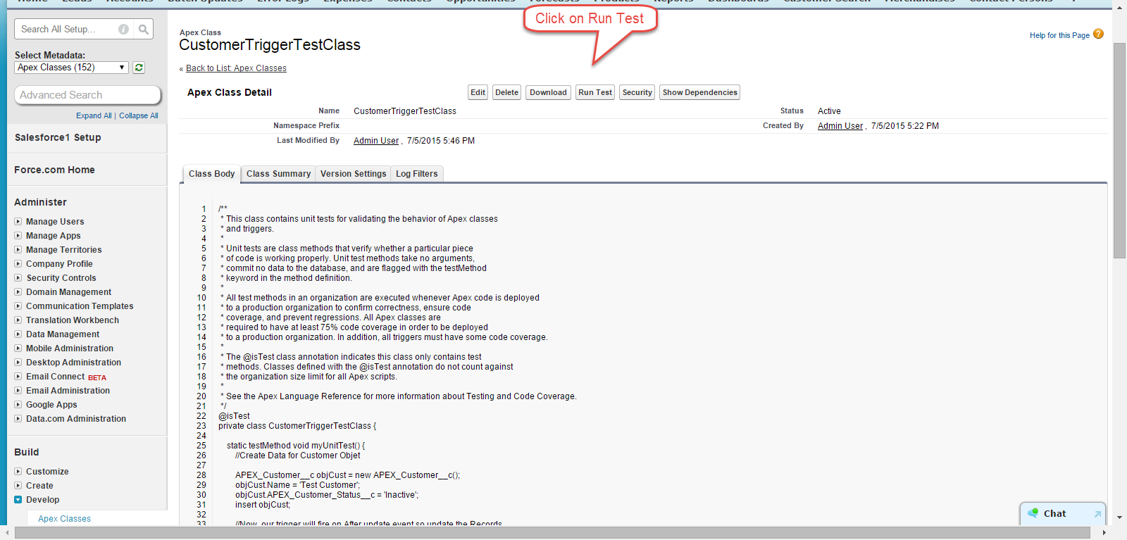 CustomerTriggerTestClass