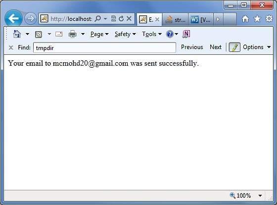 电子邮件成功